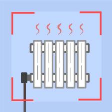 Regular boiler radiator and pipework